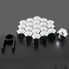 Set of 20x 19mm Car ABS Plastic Caps Bolts Covers Nuts Alloy Wheel Chrome New