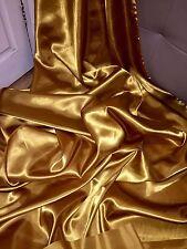"10 MTR DARK ANTIQUE GOLD SATIN LINING FABRIC...58"" WIDE"