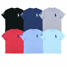 Men Polo Ralph Lauren Crew Neck T Shirt BIG PONY Size S M L XL XXL -STANDARD FIT