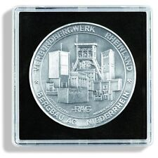 Pack of 5 Lighthouse Square Coin Medals XL Capsules Quadrum Size 42mm to 58mm