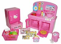 Hello Kitty Kitchen Cooking Play Set Role Play Doll Furniture Toys Sanrio