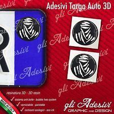 2 Adesivi Stickers bollino 3D Resinato targa Auto Moto TOUAREG DAKAR