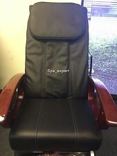 BLACK Massage seat back pillow cushion upholstery cover nail pedicure spa chair