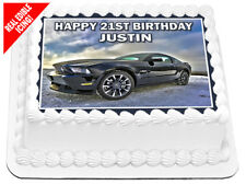 Ford Mustang Edible Icing Image A4 Birthday Party Decoration Cake Topper