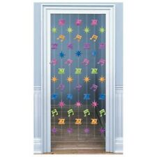 1970's Disco Themed Multi-Coloued Foil Door Curtain Party Decoration - New