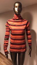 LAUREN VIDAL WOMENS STRIPED SET ( Sweater, Pair Of Mittens , Oversized Scarf ) M