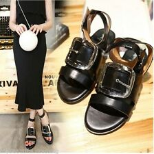 Unbranded Buckle Leather Solid Shoes for Women