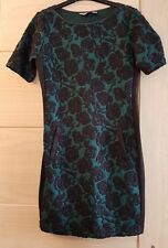 Dorothy Perkins Green And Black Rose Dress Size 8