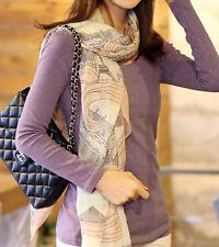 Women Long Print Cotton Scarf Wrap Ladies Shawl Girls Large Silk Scarves fashion