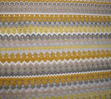 Grey & Yellow Modern Chenille Upholstery Elsa Lemoncello Richloom Fabric