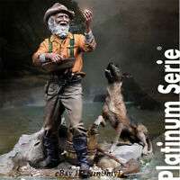 1/24 Resin Kits GOLD RUSH Older and Dog Model Figure GK Unpainted Unassembled