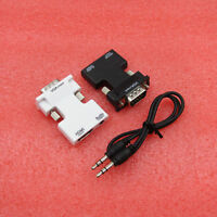 HDMI Female to VGA Male Converter+Audio Cable Support 1080P Signal Output