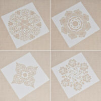 1Pc Flower Square DIY Craft Stencils Wall Painting Scrapbooking Templates