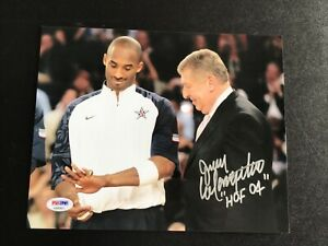 Kobe Bryant with Jerry Colangelo signed photo PSA Authenticated