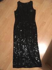 Nero Lustrini Lungo Natale Party Dress Sparkle Richards OPERA 10 12 mozzafiato su