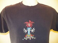 RARE BREW Beer T-Shirt SMALL (2 Sided) Ale Joker Clown 100% Cotton Navy Blue