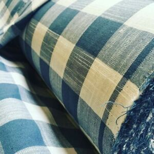 Gingham Linen Checked Cotton Fabric Plaid Material Buffalo Check 55'' wide