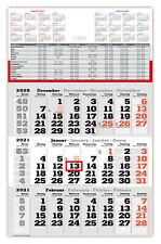 3 Monatskalender Wandkalender 2021 Ferien Dreimonatskalender Wandplaner