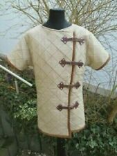 Medieval Costume Gambeson Reenactment Roman Of White Color Good Dress