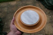 Wooden Cheese Board & Marble Centre Hand Crafted Salvaged Church Wood Reading