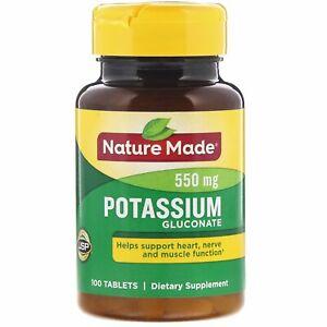 Potassium Gluconate, 550 mg, 100 Tablets