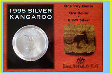 1995 $1 Kangaroo Silver Frosted Uncirculated 1 oz. Coin
