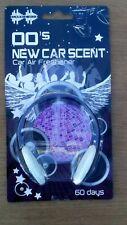 Car Air Freshener. Retro Headphones. New Car Scent. Hanging type. 00's. 60 days.