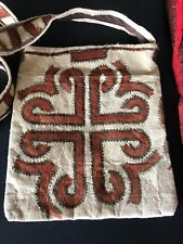 Old Pacific Islands Tapa / Bark Cloth Shoulder Bag …beautiful accent / collectio