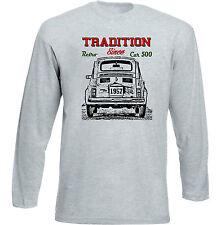 VINTAGE ITALIAN CAR FIAT 500 dal 1957-Nuova T-shirt di cotone