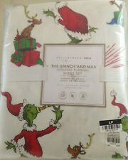Pottery Barn Teen GRINCH & MAXChristmas Holiday TWIN XL Cotton Flannel Sheet Set