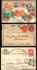 Mexico 19c Covers & Cards (5) - some nice cds