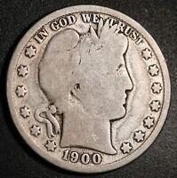 1900-O BARBER HALF DOLLAR - Near VERY GOOD