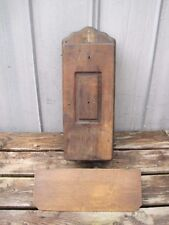 Antique Wooden Wall Crank Telephone Box & Shelf For Parts A7452