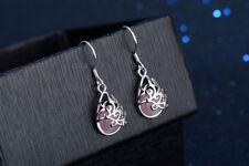 Women's 925 Sterling Silver Pink Opal Ear Dangle Earrings Fashion Jewellery