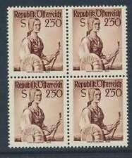 Österreich Nr. 979 postfrisch / **, VIERERBLOCK 2,50 S. Trachten  (32463)