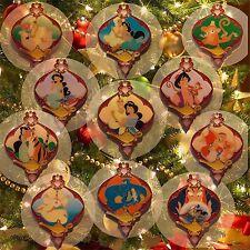Princess Jasmine Aladdin Genie Rajah Jafar Abu Iago Ornament Set Lot Disney Pin
