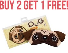 Pug Dog Sleeping Eye Mask Plush Puppy Novelty Gift Kris Kindle Secret Santa
