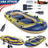 3/4-Person Inflatable Boat Set Dinghy Boat Fishing Tender Rafting Water CNY