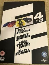 Fast And The Furious Quadrilogy (DVD, 2009, 4-Disc Set, Box-set) car, drift
