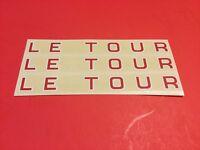 NOS Mint Schwinn Bicycle Le Tour Decals set of 3