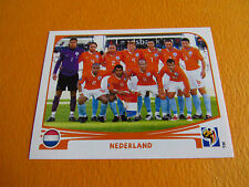 334 EQUIPE NEDERLAND KNVB PANINI FOOTBALL FIFA WORLD CUP 2010 COUPE DU MONDE