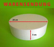Styropor-Scheibe Ø 20 Höhe 5 cm Torte Rohling Dummy Hochzeit Cake Grundlage Rund
