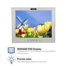 "EYOYO 12 ""LCD Monitor VGA Video Audio HDMI Eingang für PC CCTV Kamera FPV"