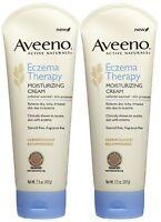 2-Pack  Aveeno Eczema Therapy Active Naturals Moisturizing Sensitive Cream 7.3Oz