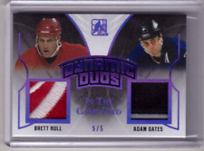 BRETT HULL ADAM OATES 17/18 Leaf In The Game-Used Dynamic Duos PURPLE PATCH #5/5
