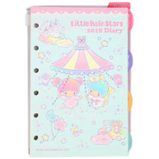 Little Twin Stars 2018 Schedule Book Agenda Planner 6-rings refill new weekly