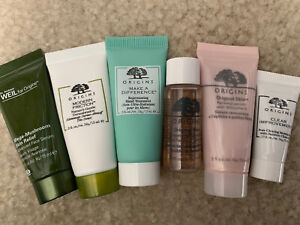 Set of 6 - Origins Skin Care Travel Size Sample, Serum, Cleanser, Lotion