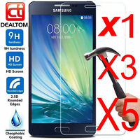 5 X 9H+ Tempered Glass Screen Protector For Samsung Galaxy A3 A5 A7 2016 / 2017