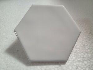 Bright White Ceramic Tile Hexagon Rippled Gloss Arctic Daltile Color 0190 Retro