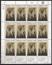 MARSHALL-INSELN, 1990 Geschichte des II WK 297 Kleinbogen **, (23395)